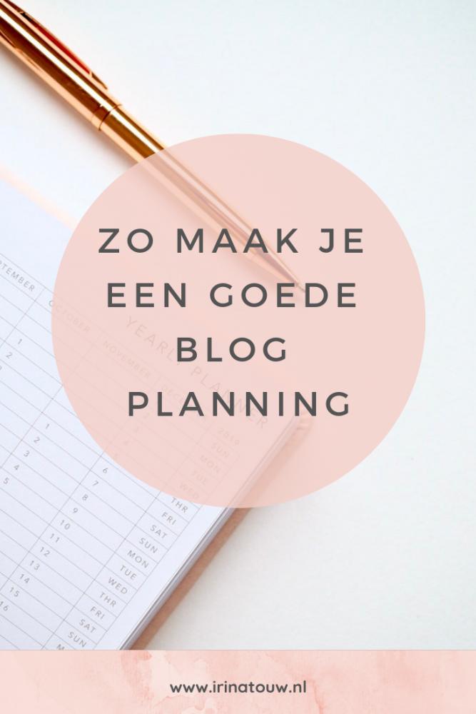 Blogtips #4 - Het maken van een goede blogplanning