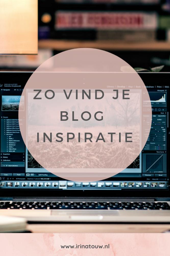 Blogtips #7 - Het vinden van bloginspiratie