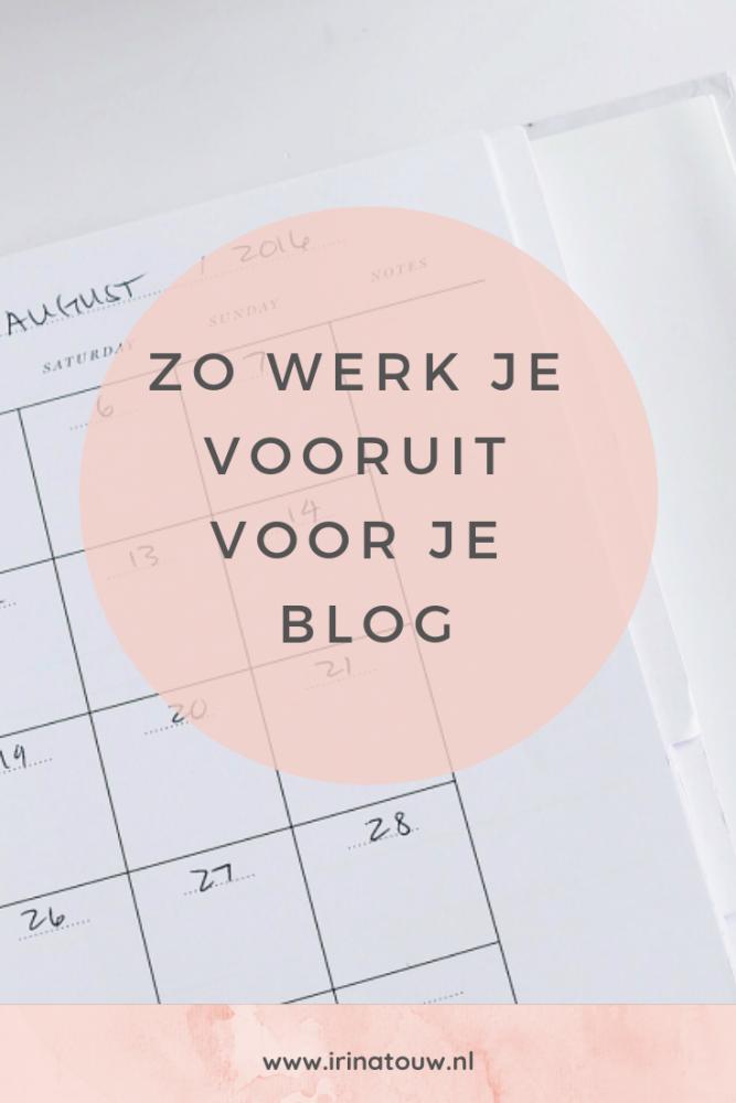 Blogtips #24 - How to: vooruit werken