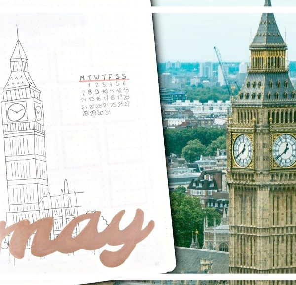 Bullet journal - mei 2018 // Londen thema