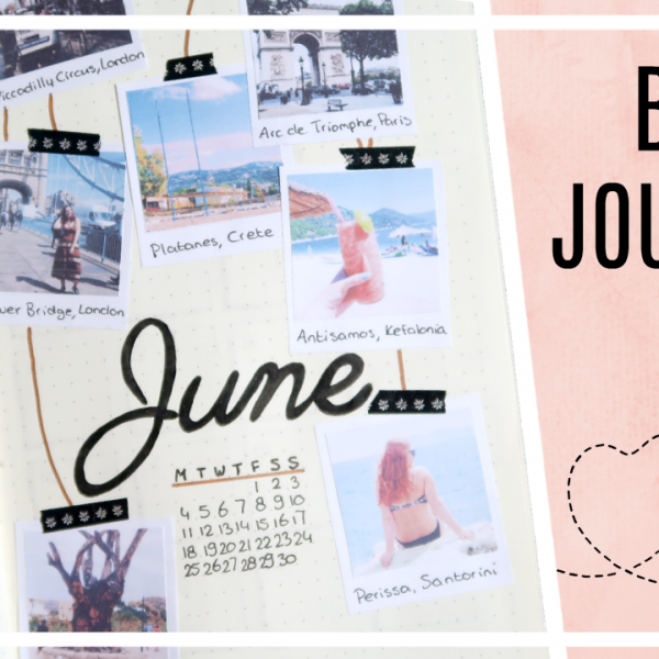 Bullet journal - juni 2018 // travel/poloroids thema