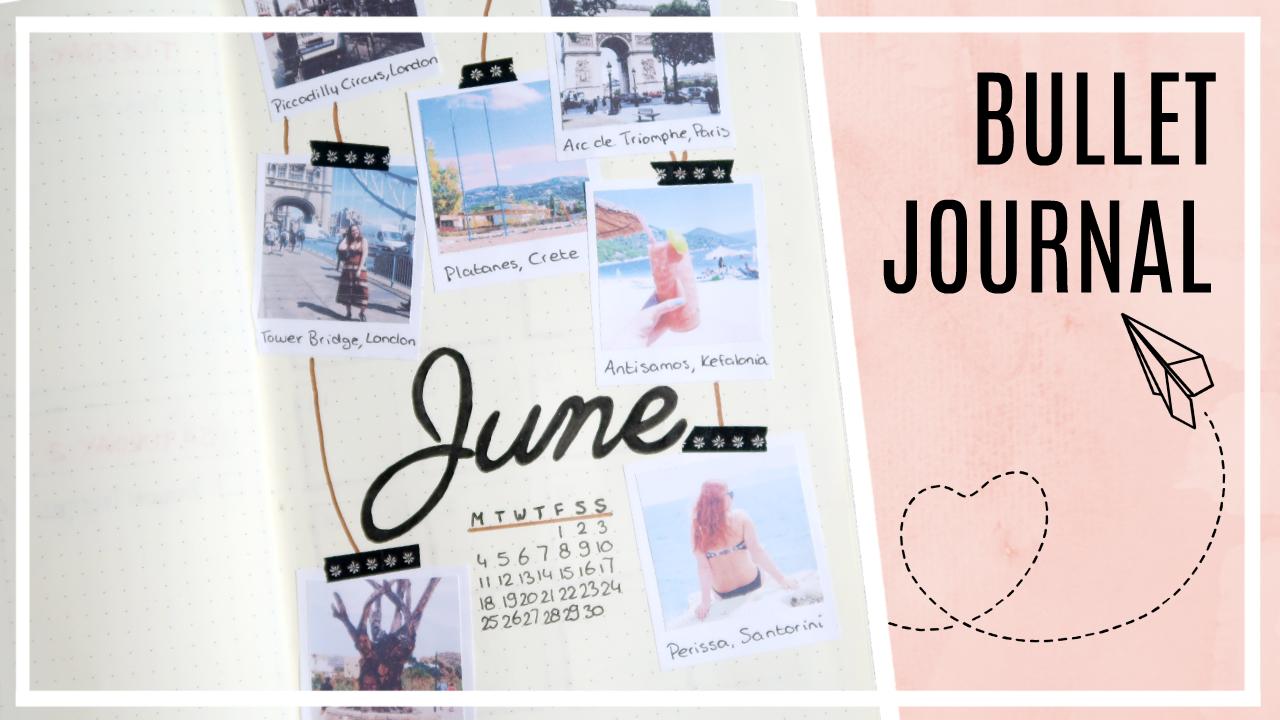 Bullet journal - juni 2018 // travel/poloroids thema