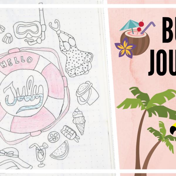 Bullet journal - juli 2018 // zomer thema