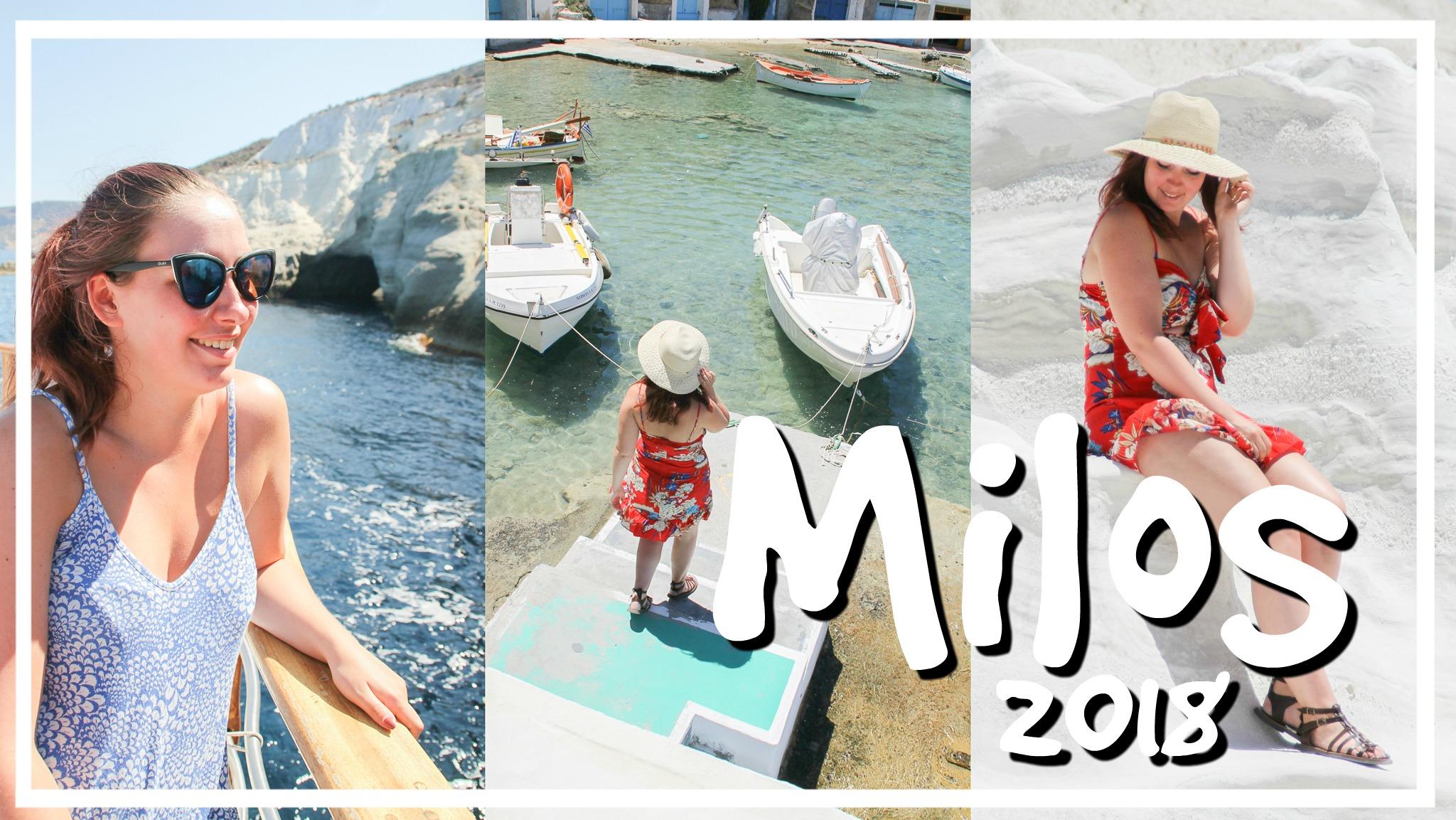 Maanlandschappen & schattige dorpjes op Milos // VAKANTIEVLOG #2 2018