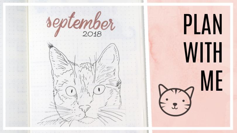 Bullet journal - september 2018 // katten thema