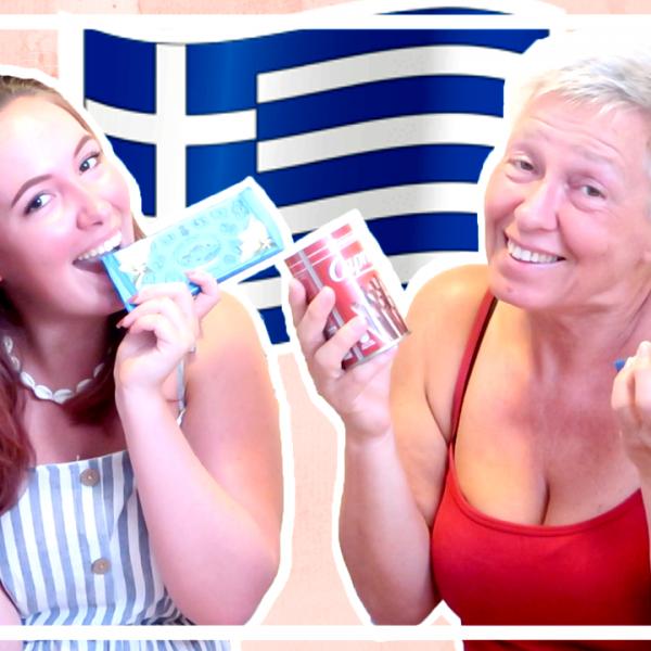 Grieks snoep proeven met mijn moeder