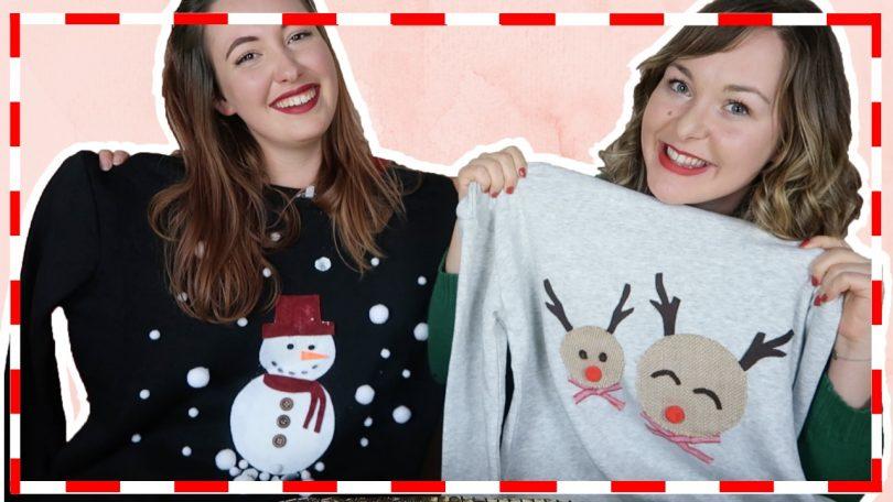 Foute kersttruien maken met Elise