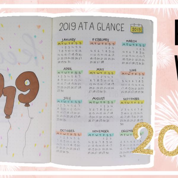 2019 bullet journal set up (incl. januari)