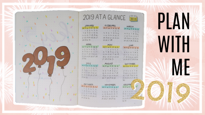 2019 bullet journal set up (incl. januari)