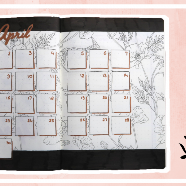 Bullet journal - april 2019 // bloemen thema
