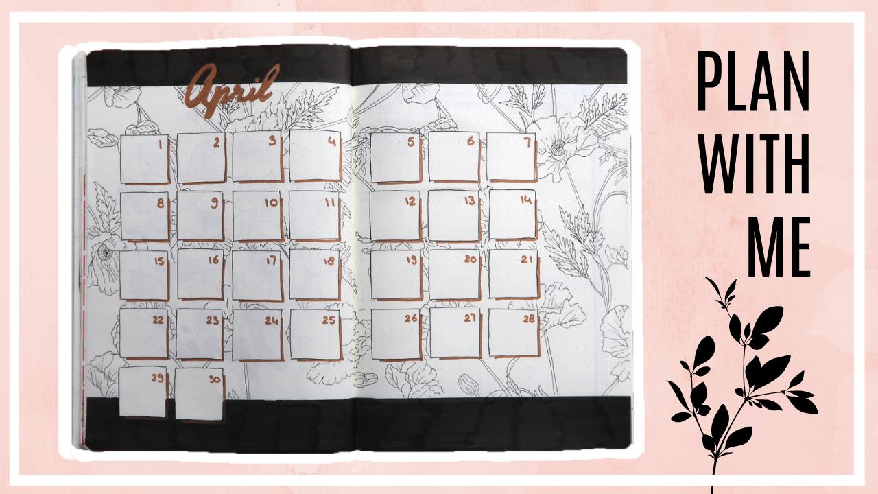 Bullet journal - april 2019 // bloemen thema