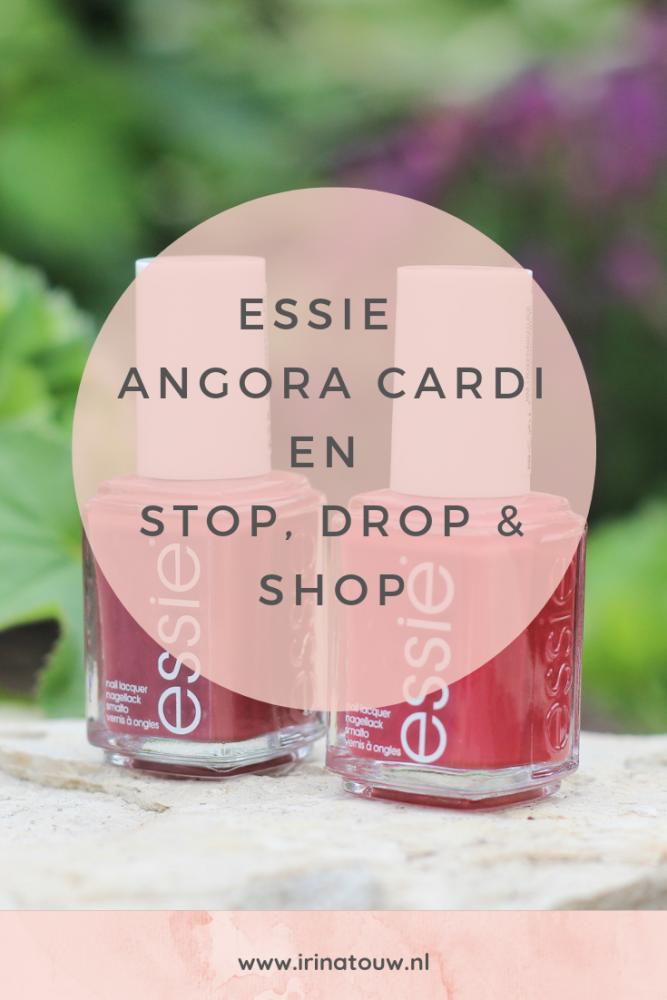 Essie Angora Cardi en Stop, Drop & Shop