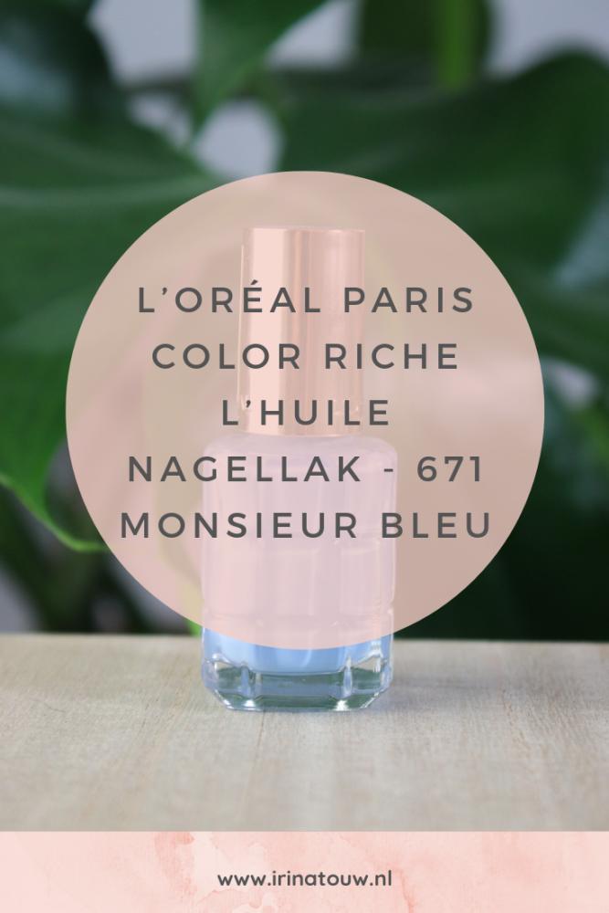 L'Oréal Paris Color Riche L'Huile nagellak - 671 Monsieur Bleu