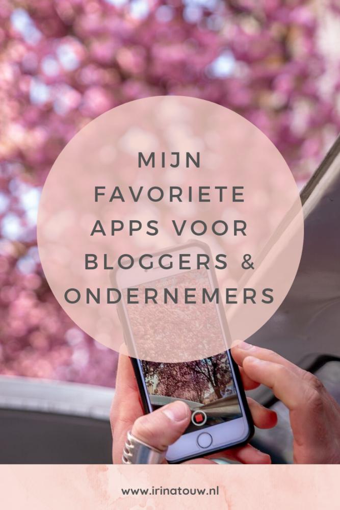 Mijn favoriete apps voor bloggers & ondernemers