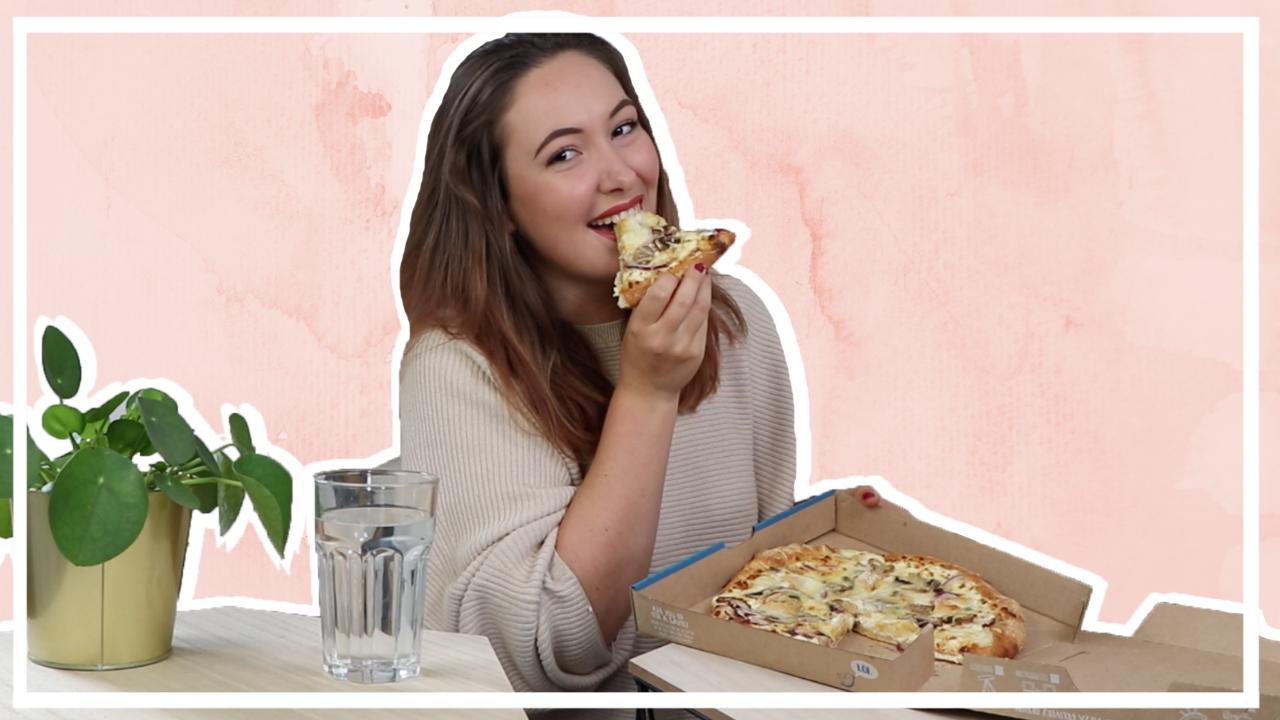 Pizza mukbang - Domino's pizza