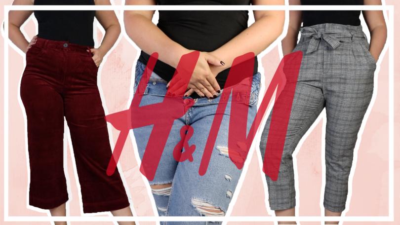 H&M broeken shoplog // 10 maat 44 broeken vergelijken