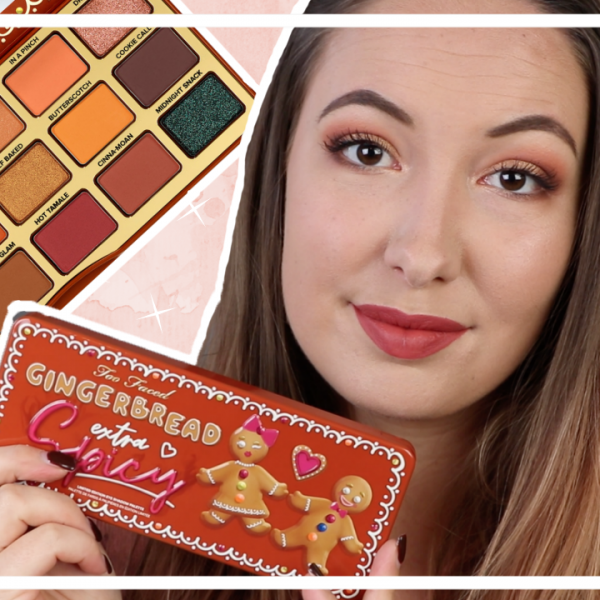 Too Faced Gingerbread Extra Spicy palette testen