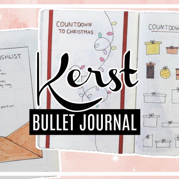 8x Kerst bullet journal spread ideeën