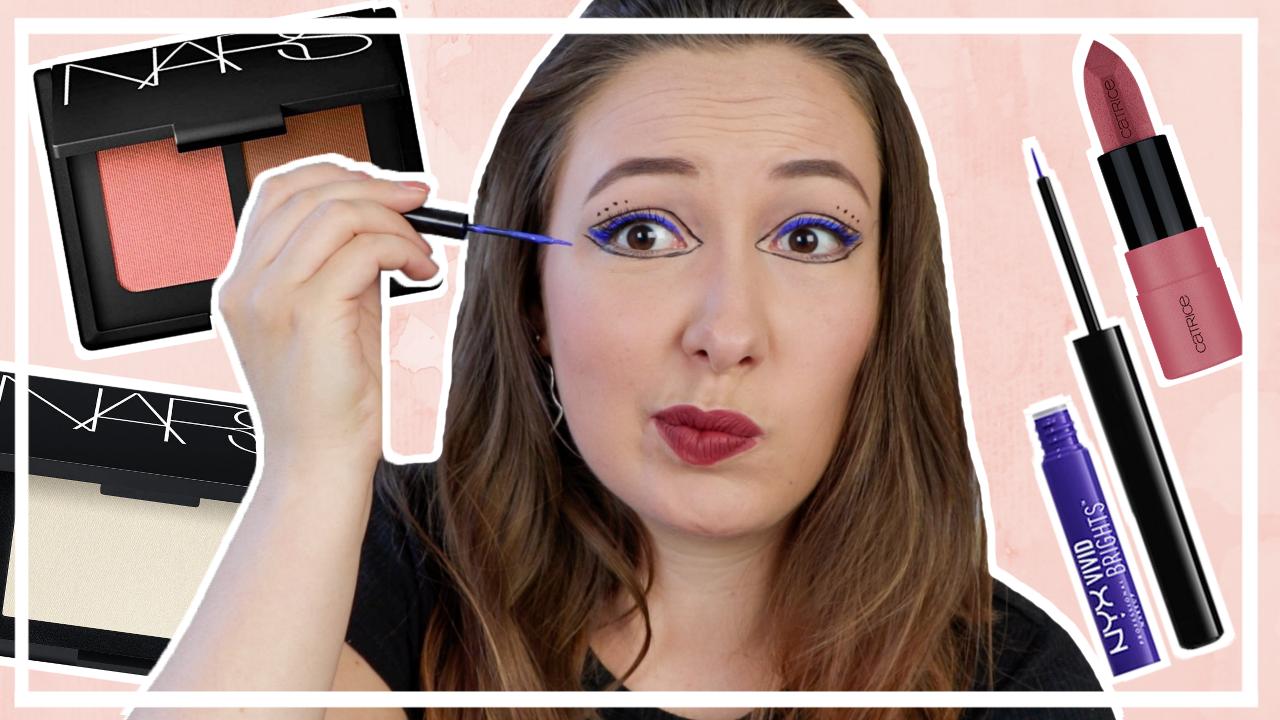 Blauwe grafische eyeliner // SPELEN MET MAKE UP #5
