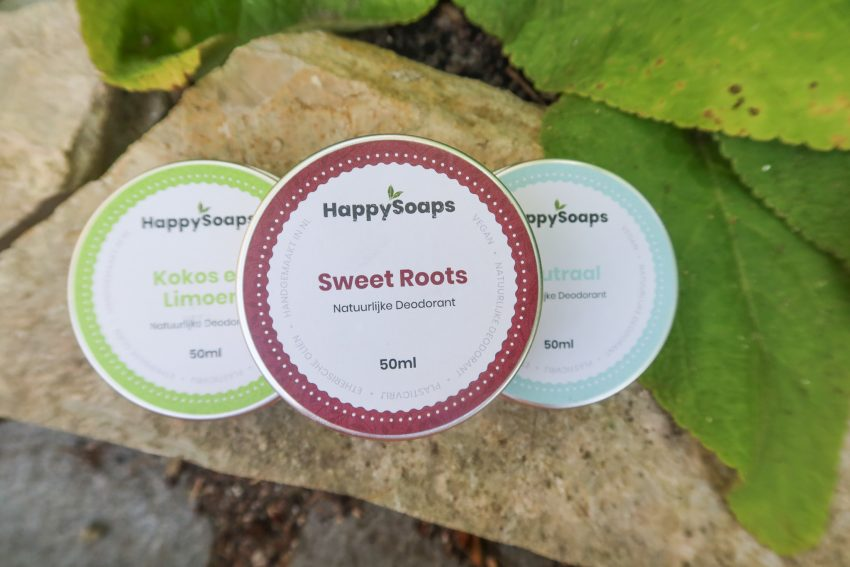 3x Natuurlijke Deodorant van HappySoaps