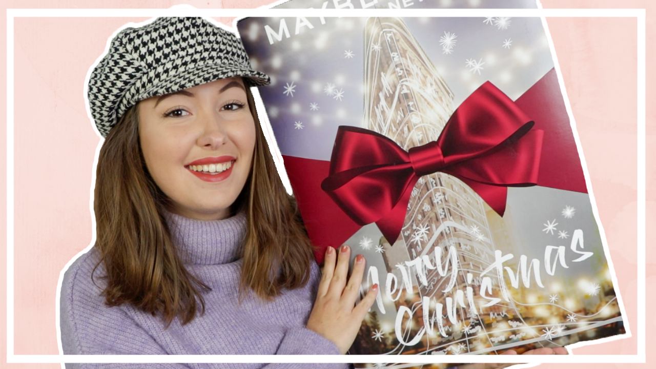 Maybelline adventskalender 2020 unboxing