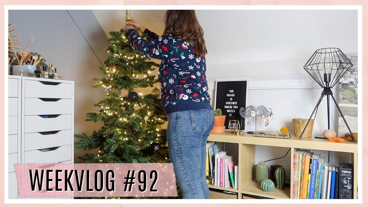 Pakketjes unboxen, kerstboom zetten & kamer versieren // WEEKVLOG #92