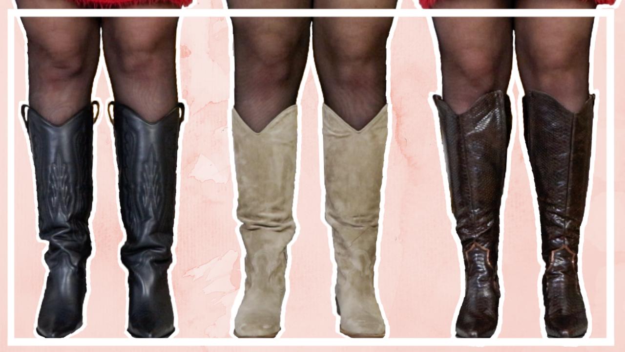 XL Hoge laarzen shoplog // 7 paar laarzen voor bredere kuiten